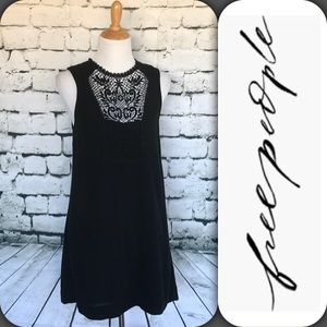 Free People Black Lace Sleeveless Boho Dress